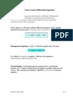 Ecuaciones Diferenciales de 2 Orden