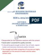Water Admixtures