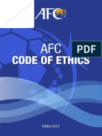Afc Code of Ethics 2013