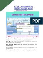Partes de La Ventana de Microsoft Power Point