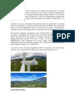 Eólico San Antonio El Sitio Consiste en Un Parque de Generación de Energía Eólica de 51