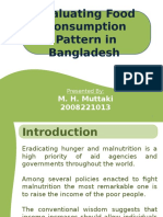 Food consumption pattern in Bangladesh