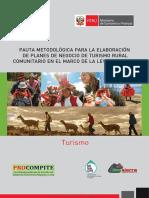 Pauta Metodológica Para La Elaboración de Planes de Negocio de Turismo Rural Comunitario en El Marco de La Ley Procompite