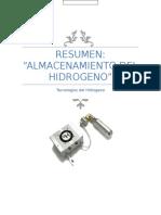 Resumen Almacenamiento de Hidrogeno
