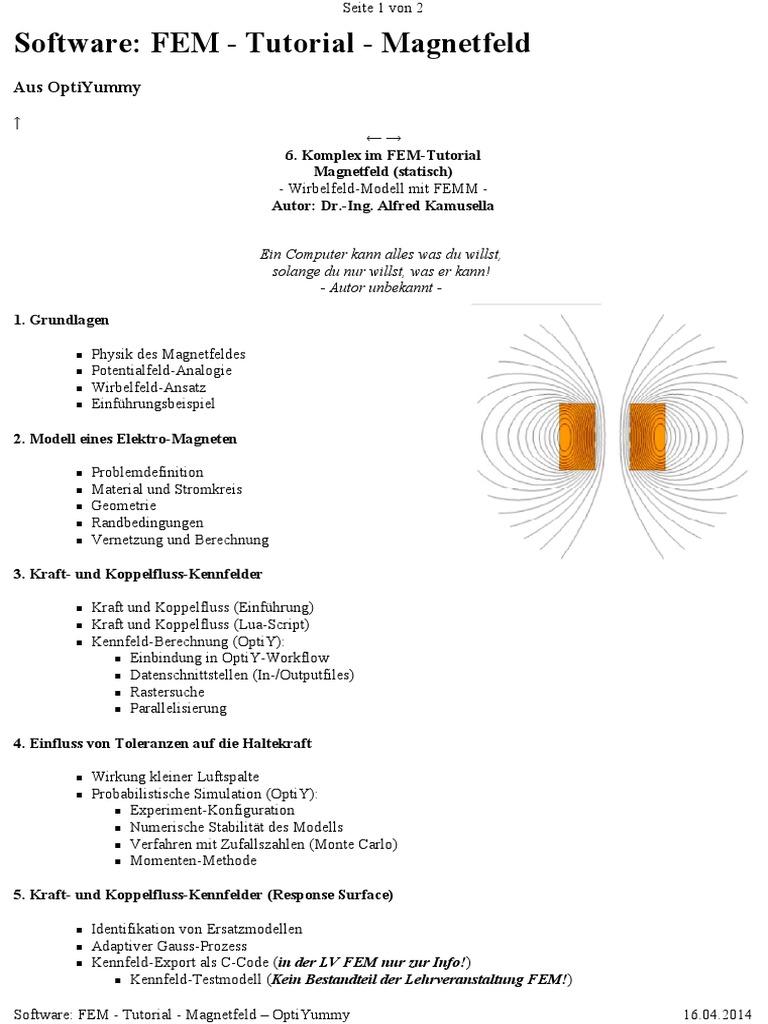 6 Software FEM - Tutorial - Magnetfeld