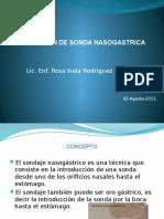 Instalacion de Sonda Nasogastrica 2