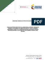 BANCO DE GESTIÓN DE PROYECTOS - CONDICIONES GENERALES DE PROYECTOS DE INVERSIÓN