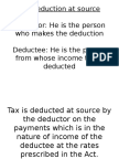 Tax Deduction at Source & Dtaa