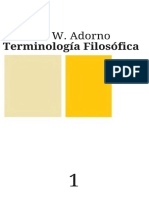 Adorno, Theodor - Terminologia Filosofica, Tomo I