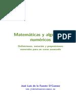 Matemáticas y algoritmos numéricos