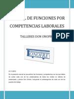 Manual de Funciones Por Competencias Talleres Don Onofre