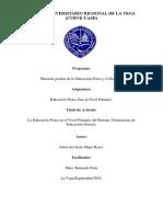 La Educación Física en el Nivel Primario del Sistema  Dominicano de Educación General.