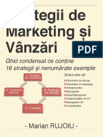 Strategii de Marketing Si Vanzari