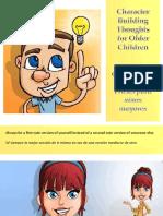 Construcción de Carácter-Frases Para Ninos Mayores - Character Building Thoughts for Older Children