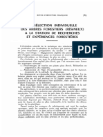 la selection individuelle des arbres forestiers (resinuex) a la station de recherches et experience forestiere