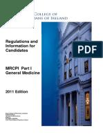 Mrcpi Part1 General Medicine Regulations