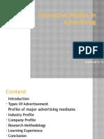 Innovative Medias in Advertising