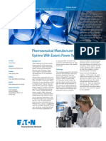 Pharmaceutical Manufacturer Optimizes Uptime With Eaton's Power Xpert