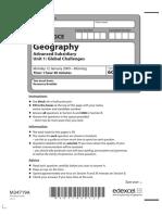 January 2009 QP - Unit 1 Edexcel Geography