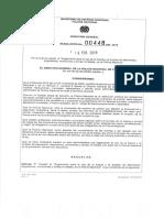 Reglamento Para El Uso de La Fuerza y El Empleo de Elementos Dispositivos Municiones y Armas