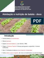 Apresentação_Nutrição e adubação da batata-doce