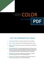 5. Los 7 Contrastes Del Color de Johannes Itten
