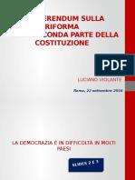 Slides Luciano Violante Riforma Costituzionale