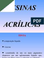 APRESENTAÇÃO RESINAS ACRÍLICAS
