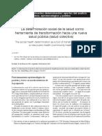 Breilh Determinacion Social Salud Publica