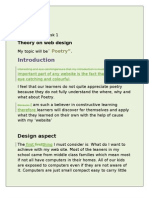 Assignment 2 Webdesign Theory