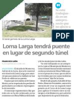 22-09-16 Loma Larga tendrá puente en lugar de segundo túnel