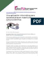 61.Una Aplicacion Informatica Para Autoevaluarse en Materia de Cultura Cientifica