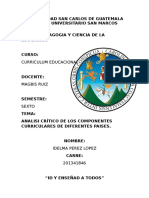 c0mponente Curricular en Argentina