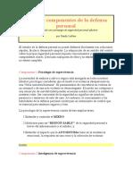 Los Siete Componentes de La Defensa Personal