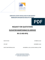 90-15-043 RFP Elevator Services