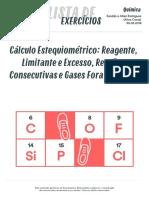 Listadexercicios Quimica Calculo Estequiometrico Reagente Limitante Excesso Reacoes Consecutivas Gases Fora Cntp 30-05-2016