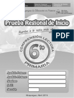01 - Prueba Regional - 6to Primaria - Comprension Lectora