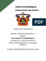 """""""ACTIVIDAD DE APRENDIZAJE 2"""" Historia de la Bnaca en México.docx"""