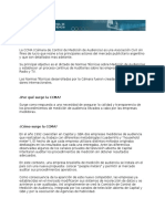 Apunte Medición de Audiencia TV - CCMA Ibope