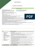 Plan Actividades Diagnósticas 3o
