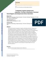 (Art. en Muestra) an Examination of Integrated Cognitive-Interpersonal. 2010 - Flynn, Kecmanovic y Alloy
