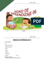 UNIDAD DE APRENDIZAJE  2°  SETIEMBRE  - 2015