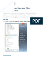 SAP NWBC Quick Start Guide