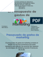 Presupuesto de Gastos de Marketing