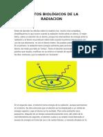 Efectos Biológicos de La Radiacion