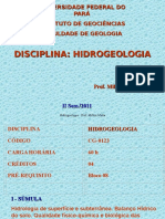 Hidrogeologia Aula 1