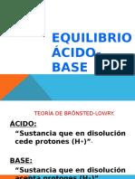 Clase 18 Equilibrio Acido Base