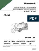 Manual cámara ENG Panasonic español