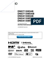 KenWood DNX7150DAB Instruction Manual