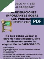 """Prof. Jorge Squef   Consideraciones Importantes Sobre Las """"Pruebas Múltiple Choice"""""""